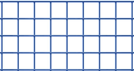 confinement: lllustration of a blue cage on a white background