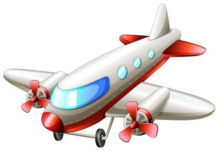 jetplane: lllustration of a vintage plane on a white background