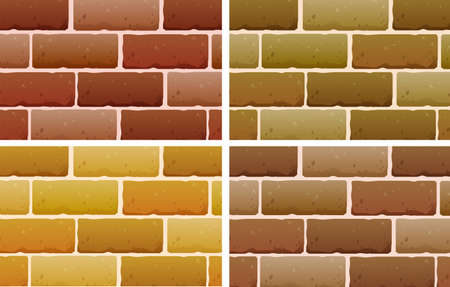 texturized: lllustration of the brick designs on a white background