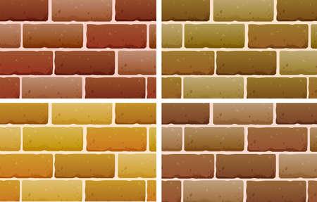 lllustration: lllustration of the brick designs on a white background