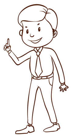 manager: lllustration of a simple businessman on a white background