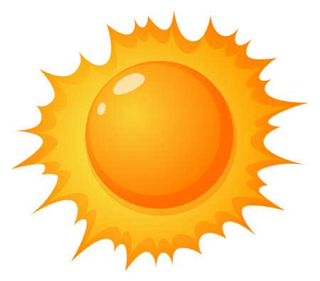 lllustration: lllustration of the hot sun on a white background