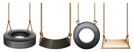 lllustration: lllustration of the different swings on a white background