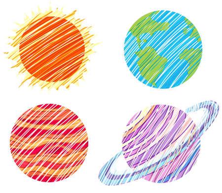 lllustration: lllustration of the planet artworks on a white background Illustration