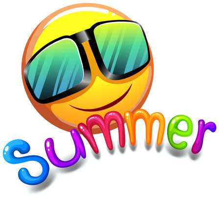 Illustration of the summer icon on a white background
