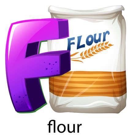 lllustration: lllustration of a letter F on a white background