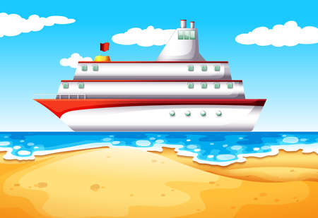 fueled: Illustration of a ship at the beach