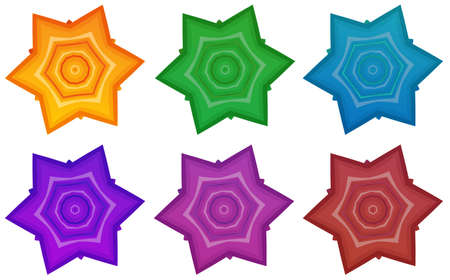 lllustration: lllustration of the colourful stars on a white background