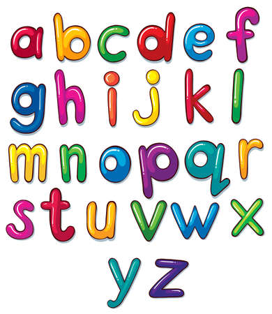 u  k: Illustration of the letters of the alphabet artwork on a white background