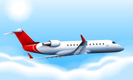 cruising: Illustration of a cruising plane in the sky