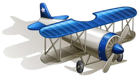 jetplane: Illustrazione di un aereo-un'elica alimentata su uno sfondo bianco
