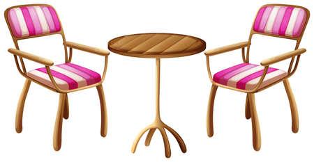 armrests: Illustration of the office furnitures on a white background Illustration