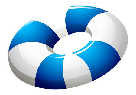 beach buoy: Illustration of a lifebuoy on a white background