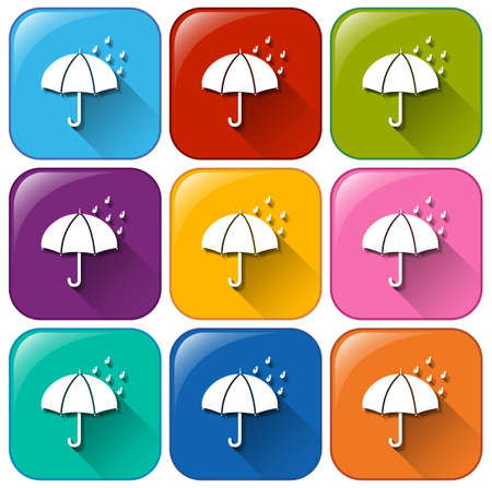 Illustration of the rainy icons on a white background Vector