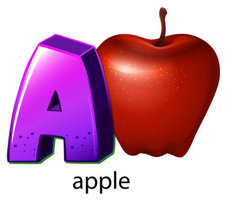 rosaceae: Illustration of a letter A on a white background