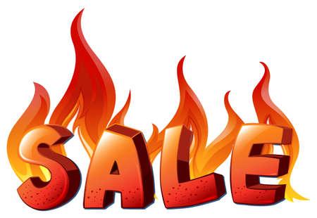 l petrol: Illustration of a sale artwork on a white background