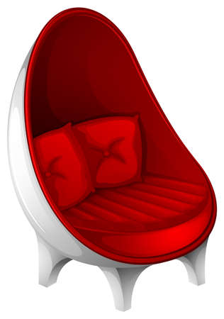 ergonomics: Illustration of a red furniture on a white background