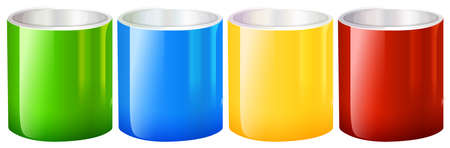 stirring: Illustration of the colourful beakers on a white background Illustration