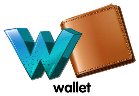 capitalized: Illustration of a wallet on a white background