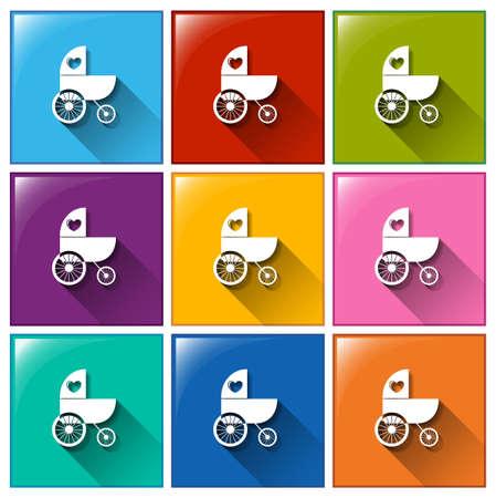 improvised: Illustration of the improvised vehicle icons on a white background
