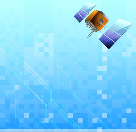 artificial satellite: Illustration of a satellite Illustration