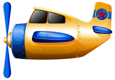 jetplane: Illustration of a propeller-powered aircraft on a white background