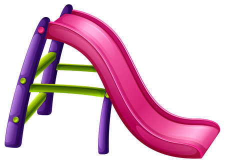 sliding colors: Illustration of a slide at the park on a white background