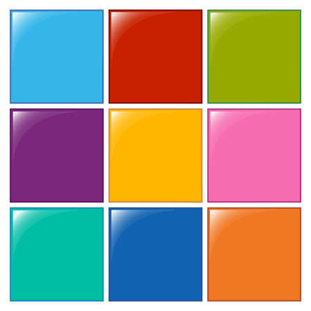 square shape: Illustration of the colourful squares on a white background Illustration