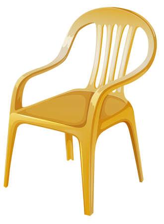 ergonomie: Illustration eines orange Stuhl auf einem wei�en Hintergrund