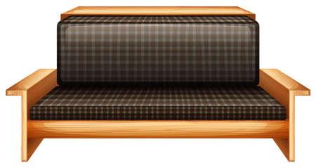 armrests: Illustration of a living room furniture on a white background Illustration