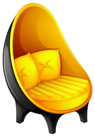 occupant: Illustration of a chair with pillows on a white background Illustration