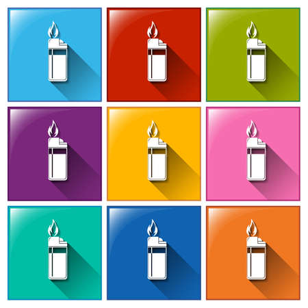 Illustration of the lighter icons on a white background
