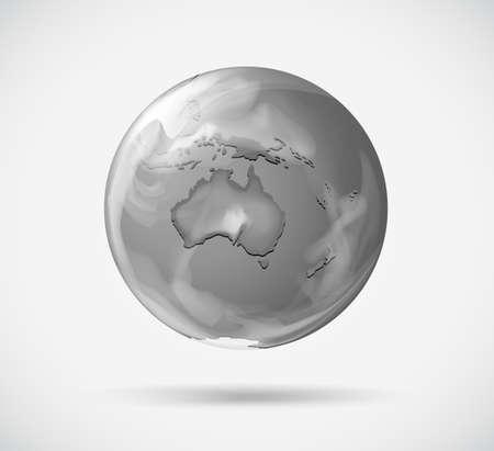 globe terrestre dessin: Illustration d'une repr�sentation tour de la Terre sur un fond blanc