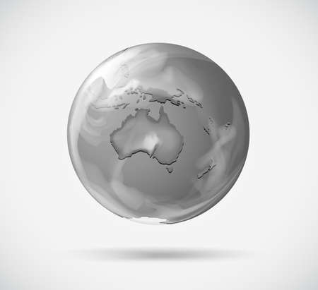 rotating: Illustration of a round representation of the Earth on a white background Illustration