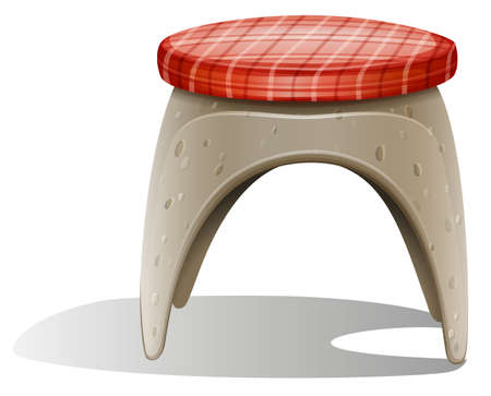 Illustration of a chair on a white background Vector