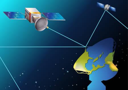debris: Illustration of the satellites near Earth
