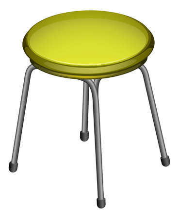 Illustration of a steel chair on a white background Illustration