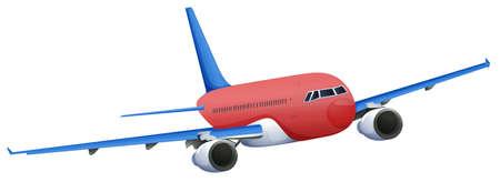 jets: Illustration of a red plane on a white background Illustration