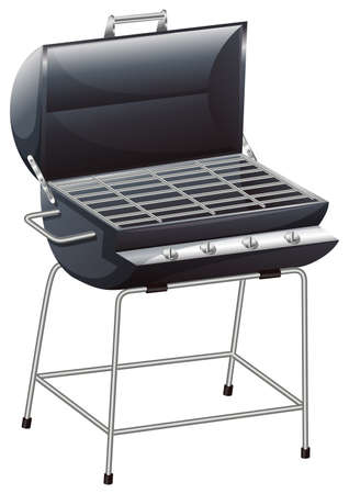 seafoods: Illustration of a grilling device on a white background Illustration