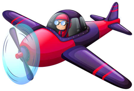 kinetic: Illustration of a colourful vintage plane on a white background Illustration