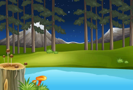 green environment: Illustration of a clean and green environment