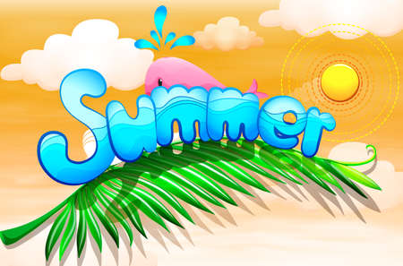 artwork: Illustration of a summer artwork Illustration