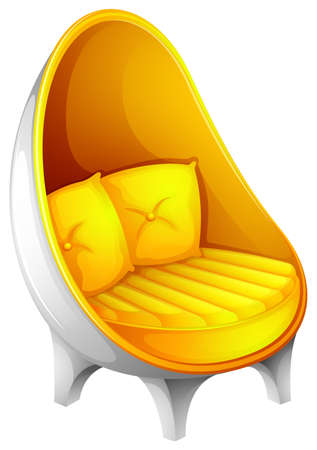 occupant: Illustration of a yellow chair on a white background Illustration