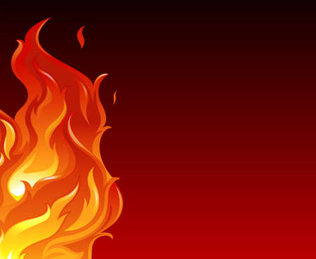 gaseous: Illustration of a big flame