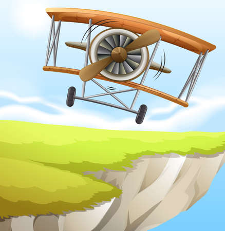 endpoint: Illustration of a plane near the cliff Illustration