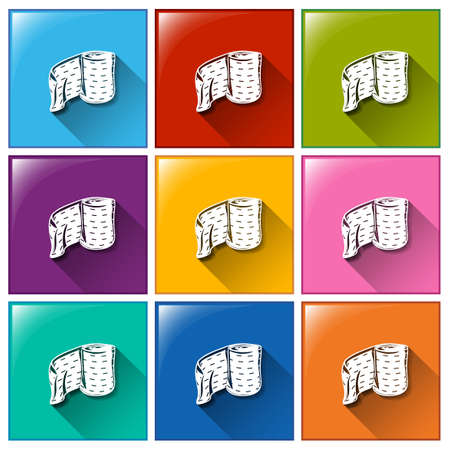 bandaging: Illustration of the medical plaster icons on a white background Illustration