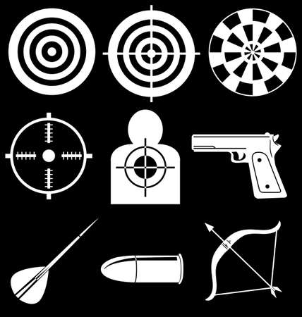 Illustration of the shooting devices on a black background