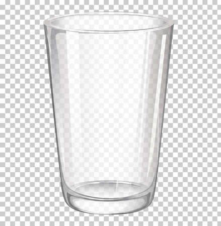 Illustration of a glass on a white background Vector