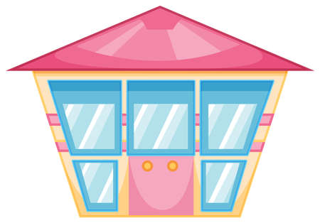 resident: Illustration of a simple building on a white background Illustration