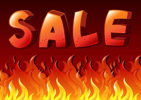 flaming: Illustration of the sale artwork Illustration